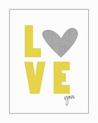 "8x10 Printable that says ""Love you"" with a heart for the O in Love"